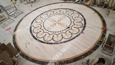 Hall Decorative Natural Stone Floor Medallions Nice Water Jet Pattern