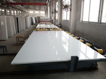 Pure White Solid Stone Countertops For Kitchen Cabinet Quartz Material