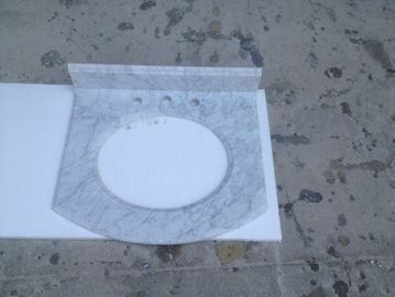 Bianco cararra white Venato marble bathroom vanity tops for hospitality rennovation